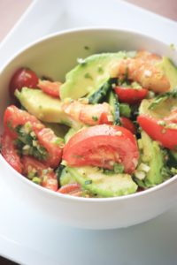 My PCOS Kitchen - Shrimp & Avocado Paleo Salad - A delicious dairy-free, sugar-free and gluten-free salad that is low carb or keto!