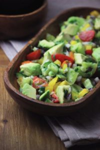 Low Carb Paleo Cucumber Tomato Avocado Salad