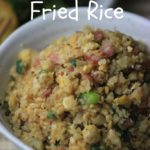 My PCOS Kitchen - Cauliflower Fried Rice - A delicious paleo Chinese Cauliflower Fried Rice made with coconut aminos! Gluten-free, low carb and low calorie!