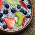 Paleo Chia pudding with fresh fruit