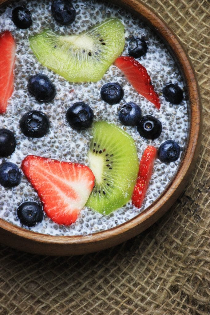 My PCOS Kitchen - Paleo Chia Pudding - A delicious sugar-free and dairy-free natural pudding topped with fresh fruit!