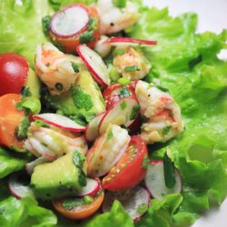 My PCOS Kitchen - Lettuce-Wrapped Shrimp Tostadas - Some delicious grain-free, gluten-free wraps covered in yummy seafood!