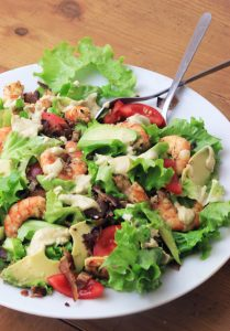 Paleo Shrimp & Avocado Caesar Salad