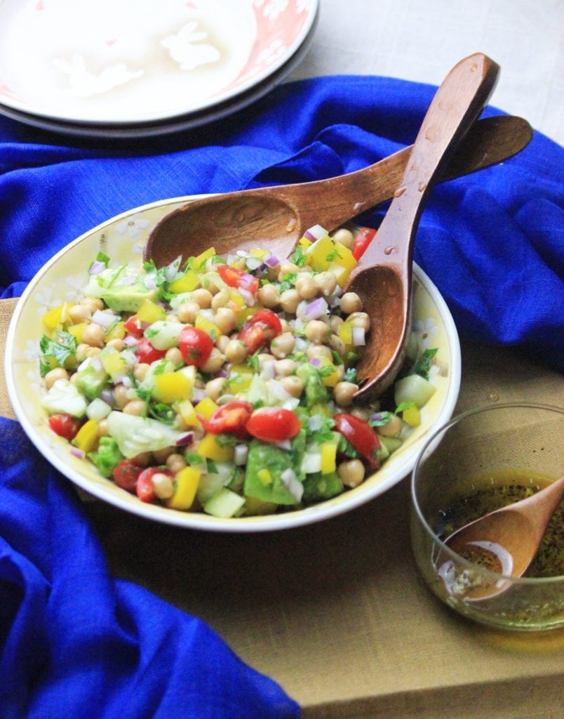 My PCOS Kitchen - Chickpea Salad - This refreshing cold salad is perfect to beat the summer heat!