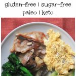 My PCOS Kitchen - A simple Keto Breakfast - A super easy breakfast with eggs, bacon, broccoli, avocado and mushrooms. The perfect low carb morning start.