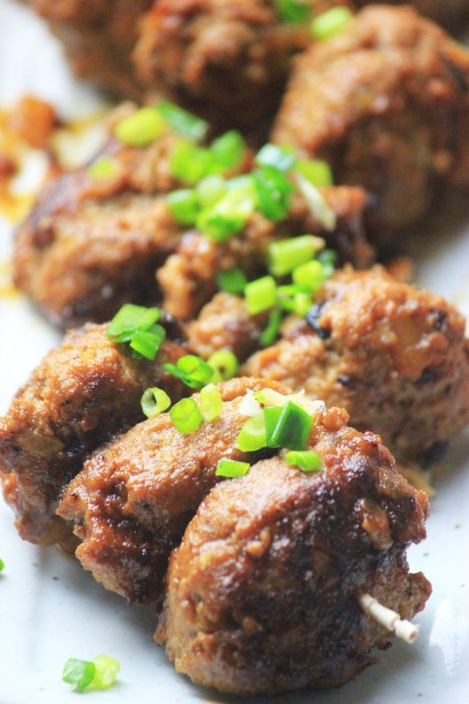My PCOS Kitchen - Paleo Sweet & Sour Meatballs - These delicious Asian meatballs are coated with a gluten-free sticky sauce!