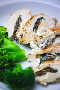 Stuffed Chicken Breast with Basil, Goat Cheese & Sun-Dried Tomatoes