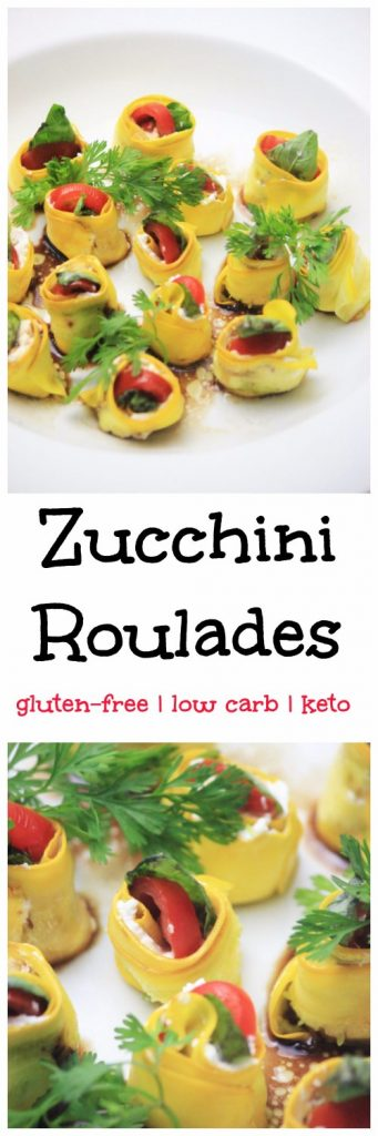 My PCOS Kitchen - Keto Zucchini Roulades - These healthy roulades are stuffed with goat cheese, basil and cherry tomatoes.