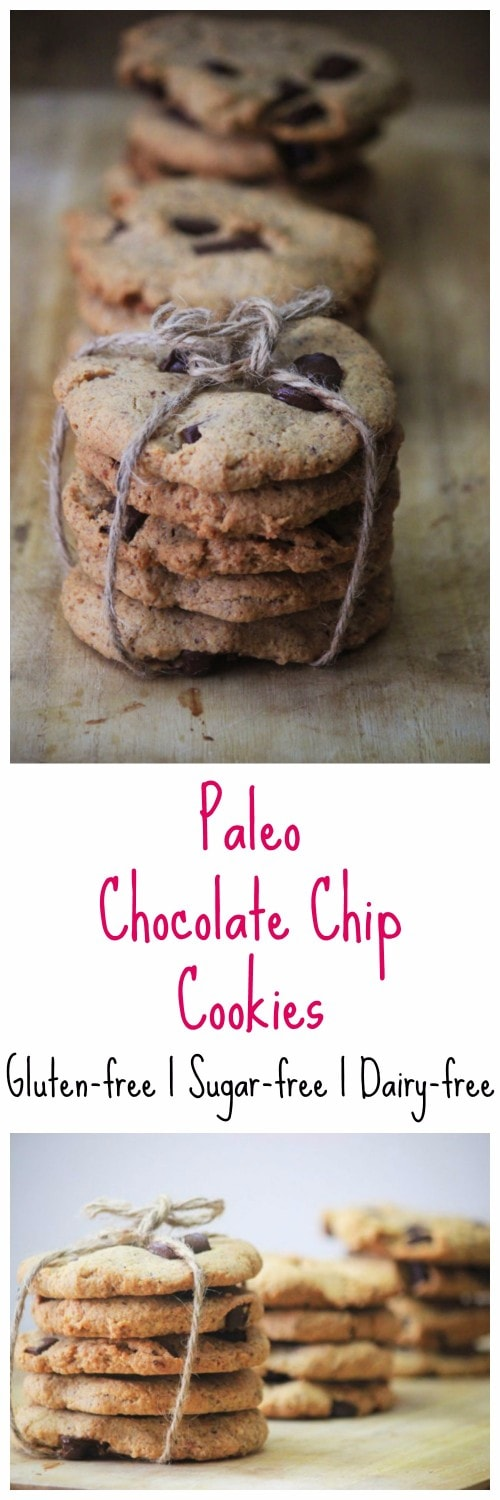 My PCOS Kitchen - Paleo Chocolate Chip Cookies - These moist chocolate chip cookies are the perfect snack and are refined sugar-free. Impress the whole family with these!