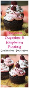 My PCOS Kitchen - Chocolate Cupcakes with Raspberry Frosting - These gluten-free and refined sugar-free cupcakes are to die for!