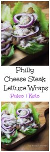 My PCOS Kitchen - Keto Philly Cheese Steak Lettuce Wrap - A low carb alternative to the popular sandwich. Serve these for lunch or dinner and they'll fill you right up.