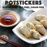 Keto Paleo Gluten Free Potstickers - My PCOS Kitchen - Delicious low carb potstickers that use thinly sliced daikon radish instead of wraps!