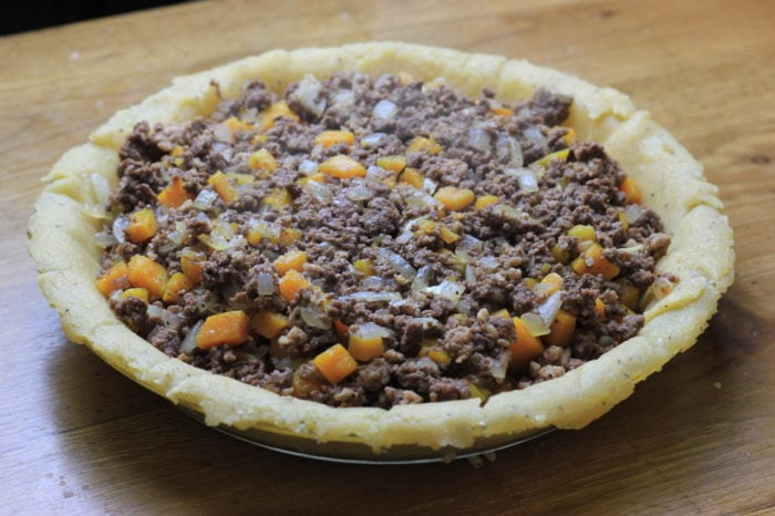 My PCOS Kitchen - Paleo Low Carb French Canadian Tourtiere - A delicious gluten-free and starch-free traditional meat tourtiere.