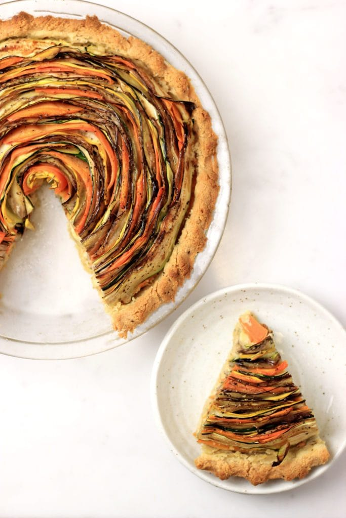 My PCOS Kitchen - Paleo Vegetable Spiral Tart - This gluten-free, vegetarian and low carb tart is the perfect dinner idea!