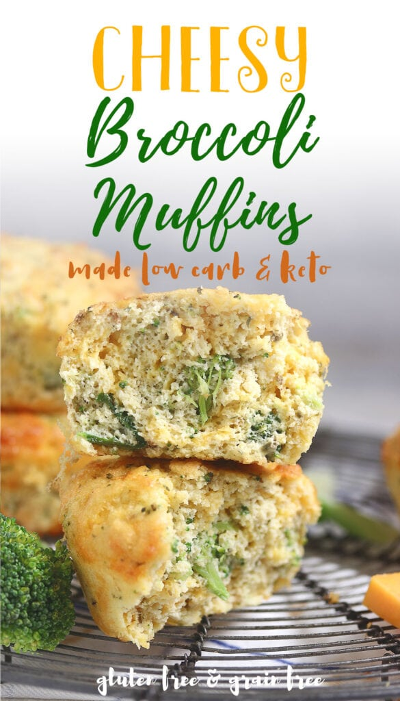 Muffin recipes can be a challenge for those of us on the keto diet. These savory muffins are perfect to make and freeze, so you'll always have something tasty at hand to eat in the morning or as an afternoon snack! They're low carb but still moist and delicious with cheddar cheese and fresh broccoli. You won't believe that they're only 3g net carb each! Make these now - your mornings will never be boring again!