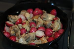 My PCOS Kitchen - Grilled Chicken, Bacon & Radish - A delicious low carb, gluten-free, paleo & keto quick meal or side dish!