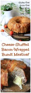 My PCOS Kitchen - Cheese-Stuffed Bacon-Wrapped Meatloaf - This is the PERFECT Keto dinner that comes out soo juicy and cheesy!