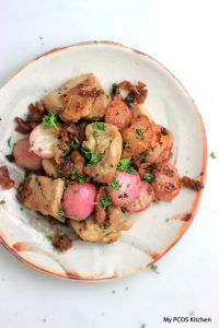 Grilled Chicken, Bacon & Radishes
