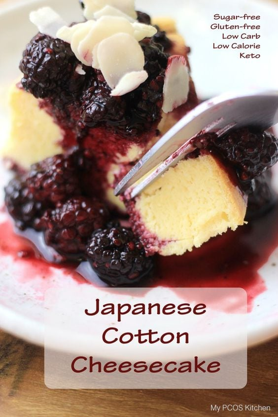 84828ba31317 My PCOS Kitchen - Japanese Cotton Cheesecake - A gluten-free and sugar-free