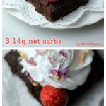 My PCOS Kitchen - Keto Chocolate Cake Bars - Gluten-free, Sugar-free, Dairy-free delicious chocolate cake with coconut whipped cream and strawberries.