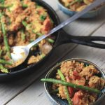 Keto Paleo Seafood Paella with Cauliflower Rice