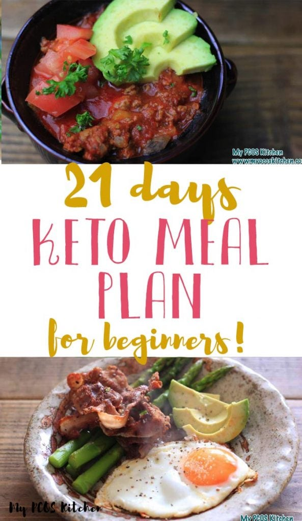 You'll love using this 3 week keto meal plan for beginners! In this low carb meal plan you'll find recipes for soups, breakfast, lunch or dinner that are all under 20g net carbs per day, include macros and recipe pictures, a snack list and a grocery shopping list for each week.
