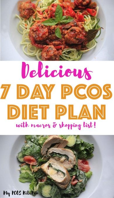 If you're new to low carb eating then this PCOS diet plan is the low carb meal plan to follow. It's the perfect introduction to low carb cooking with simple recipes that are under 50g net carbs for the whole day. This low carb diet plan is perfect for weight loss, for women and for thos who have polycystic ovary syndrome.