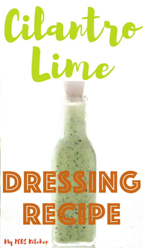 This delicious and healthy Cilantro Lime dressing recipe is super quick to make and totally keto friendly! Just mix all of the ingredients into a food processor and you'll have yourself a homemade Mexican salad dressing! Use it on your favorite low carb salad recipes and you can also use it for fish tacos!