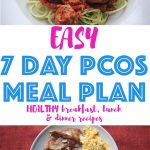 This super easy and budget friendly PCOS meal plan for losing weight and fertility if the best PCOS diet plan you'll ever need. The recipes are delicious and simple to make. If you're ready for some lifestyle changes, then this PCOS diet plan is for you. All recipes come with macros and a shopping list.