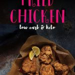 This healthy gluten free fried chicken recipe does not use any corn starch or flours. Made with an easy batter, these chicken tenders will be so juicy and crispy! You won't ever want to go to KFC again once you make this low carb fried chicken recipe. #ketofriedchicken #friedchicken #mypcoskitchen