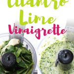 This healthy cilantro lime dressing is the perfect low carb salad dressing for salads, but also for fish tacos and fajitas. It's the best healthy Mexican salad dressing you'll ever make and is super easy to make. Ready in less than 5 minutes, you'll love pouring this homemade vinaigrette over your favourite salad recipes!
