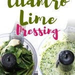 This delicious keto cilantro lime dressing goes so well over any low carb salads or fish tacos! So easy and creamy, you'll want to make this simple keto salad dressing every day of the week!