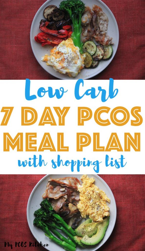 7 Day Low Carb Pcos Meal Plan For Beginners My Pcos Kitchen
