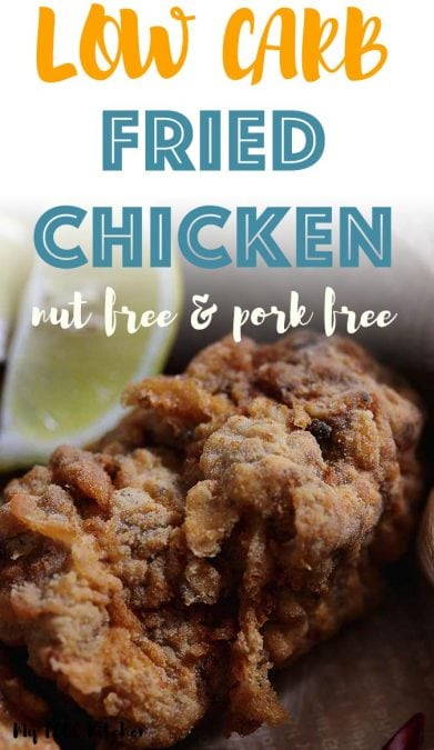 This low carb fried chicken recipe is the best keto fried chicken recipe you'll ever make. This low carb fried chicken recipe can be made with any parts of the chicken and isn't coated in parmesan, almond flour or pork rinds. The secret batter ingredient to making crispy chicken thighs is whey protein isolate! It makes the best fried chicken out there!