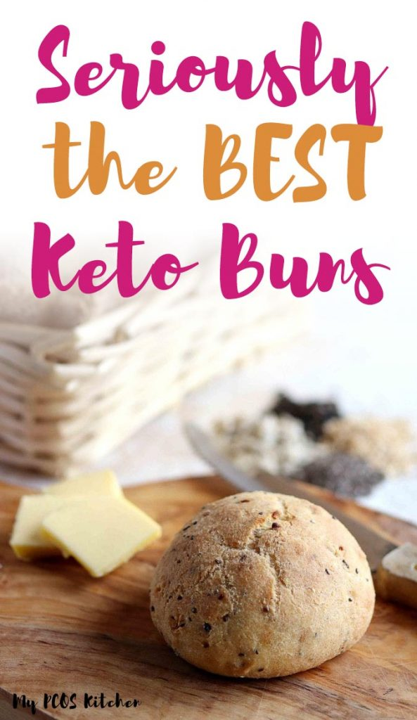 If you haven't tried these keto buns yet, then you're definitely missing out! These low carb buns are made with psyllium and can be used for sandwiches, hot dogs, hamburgers and more! This recipe requires no yeast or coconut flour and come out so soft and fluffy! You won't ever want to make any other keto bread recipe again! #ketobread #ketobuns