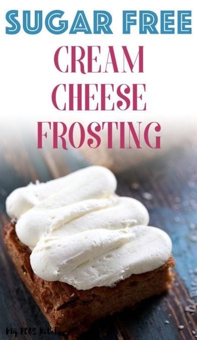 This ridiculously easy sugar free cream cheese frosting is the best frosting recipe you'll ever make! Made with stevia and erythritol, you'll want to top this frosting over cakes, cupcakes and cookies. It's the best frosting recipe out there and it's the most popular recipe on the site! use it for carrot cake, cinnamon rolls or zucchini cake for a healthy sugar free frosting recipe!