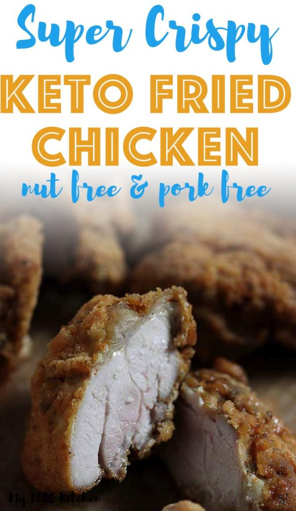 If you want the crispiest fried chicken recipe, then this low carb fried chicken is it. You won't believe how crispy and juicy these keto fried chicken thighs come out. Made with whey protein isolate, they taste just like the original KFC fried chicken recipe, just without all the carbs! Use chicken breasts, wings, thighs or drumsticks for this easy gluten free fried chicken recipe.