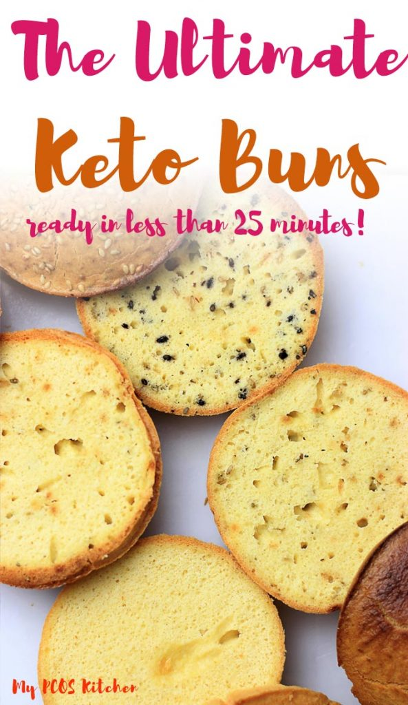 These keto buns are so easy to make and ready in less than 25 minutes. You won't believe they are grain free. It's the best almond flour buns you'll ever make. Use this paleo bread for burgers, for sandwiches or just as a bun itself. They are super healthy and require no yeast so no waiting time!