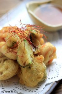 My PCOS Kitchen - Keto Tempura - These delicious crispy and flaky tempura pieces remind me of the real Japanese alternative. Perfect with some sauce or cooked in some hot sauce! Gluten-free, Dairy-free, Low Carb, Sugar-free, Wheat-free