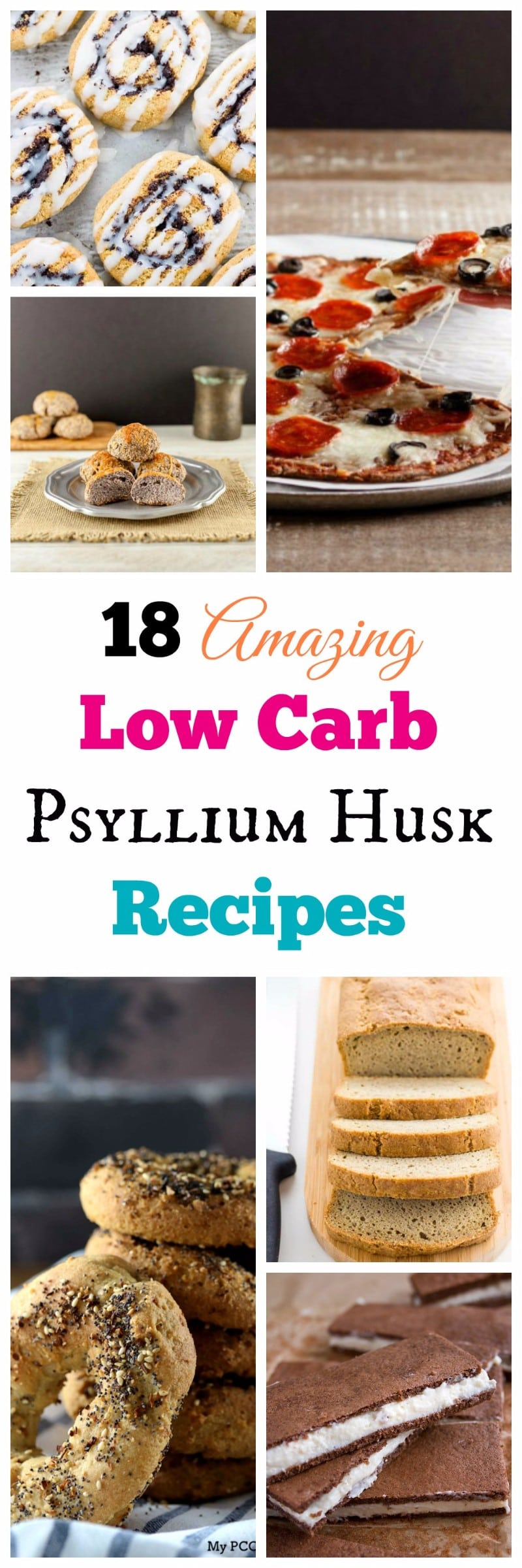 My PCOS Kitchen - Low Carb Keto Psyllium Baked Goods Recipe Round Up - A compilation of gluten-free, sugar-free baked goods that use psyllium husk powder!