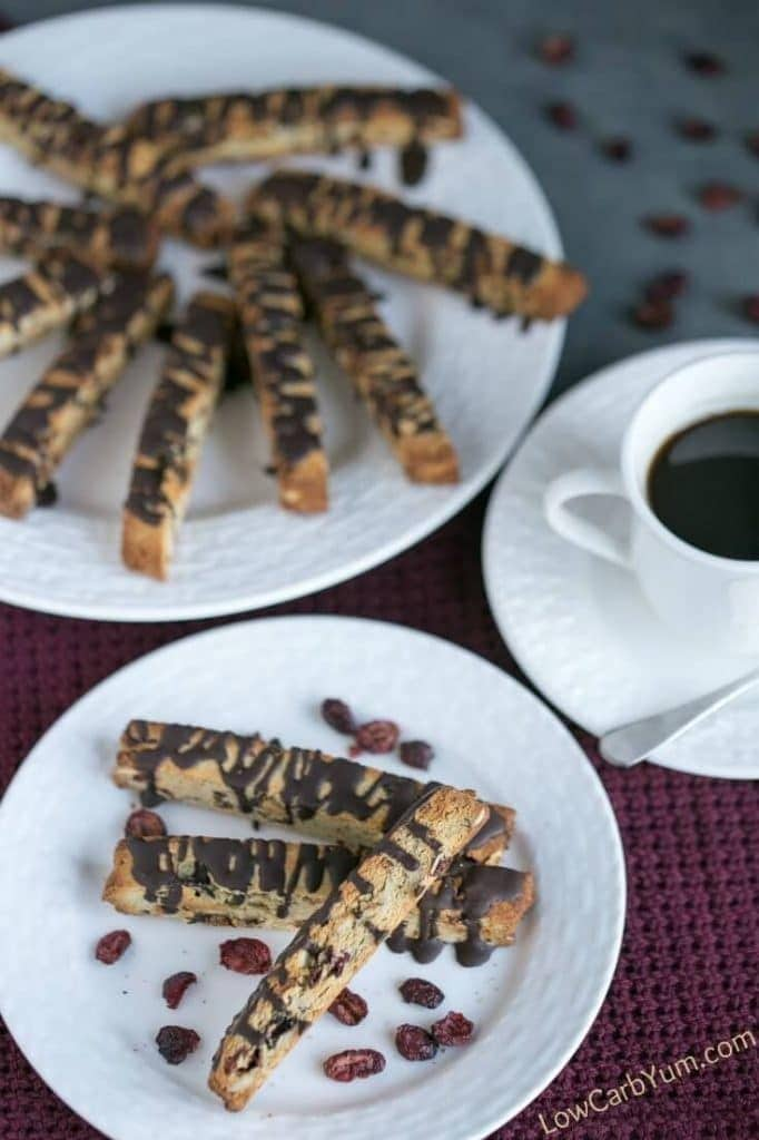 Cranberry Almond Biscotti Cookies - Low Carb Yum - 20 Low Carb Dairy-free Baked Goodies Recipe Roundup