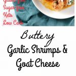 My PCOS Kitchen - Buttery Garlic Shrimps & Goat Cheese - Creamy shrimps cooked in a paprika butter sauce and smothered with delicious goat cheese.