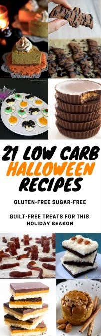 My PCOS Kitchen - 21 Low Carb Halloween Recipes - A handy list of low carb Halloween recipes to make for this holiday season! These recipes can be made throughout the year and are all gluten and sugar-free! #keto #lowcarb #lchf #halloween #glutenfree #sugarfree #ketogenic #paleo