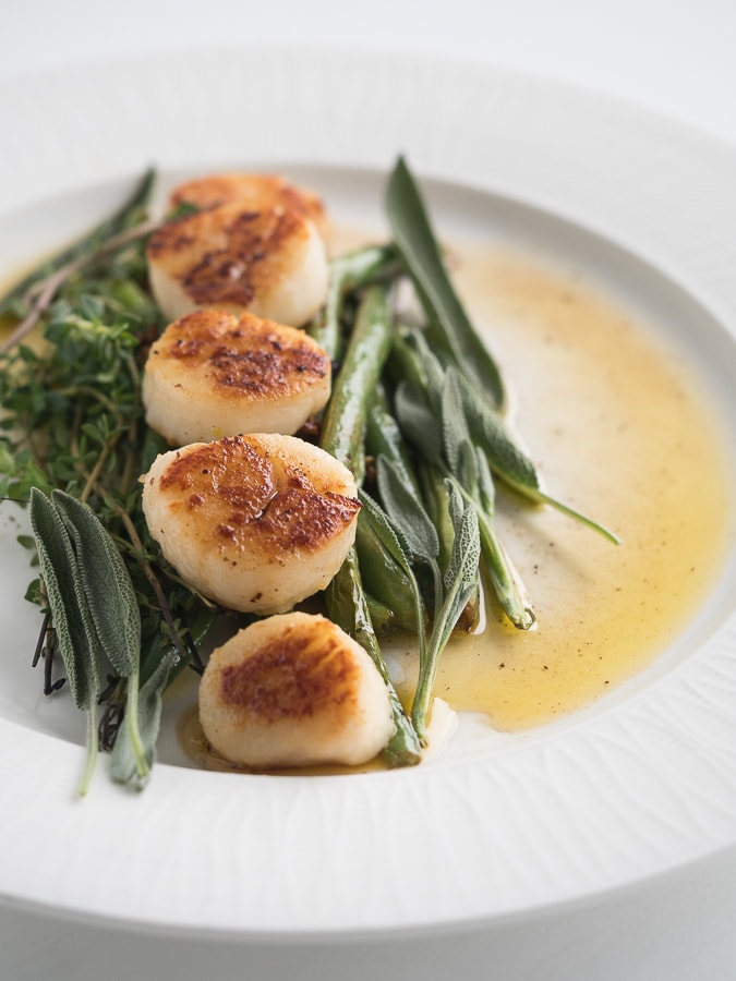 My PCOS Kitchen - Fatforweightloss - Pan Seared Scallops - Seared Buttery Scallops with thyme and sage