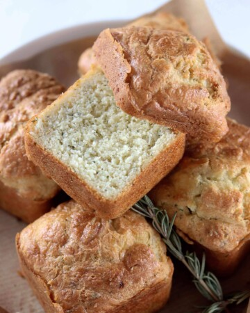 My PCOS Kitchen - Keto Cheesy Biscuits - Low Carb biscuits made with sour cream and butter!