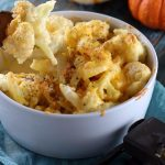 Low Carb Three-Cheese Cauliflower Mac & Cheese