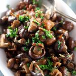 Roasted Buttery Mushrooms & Bacon
