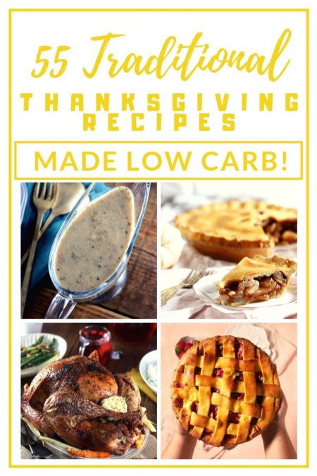 55 differents recipes to make for a keto thanksgiving.