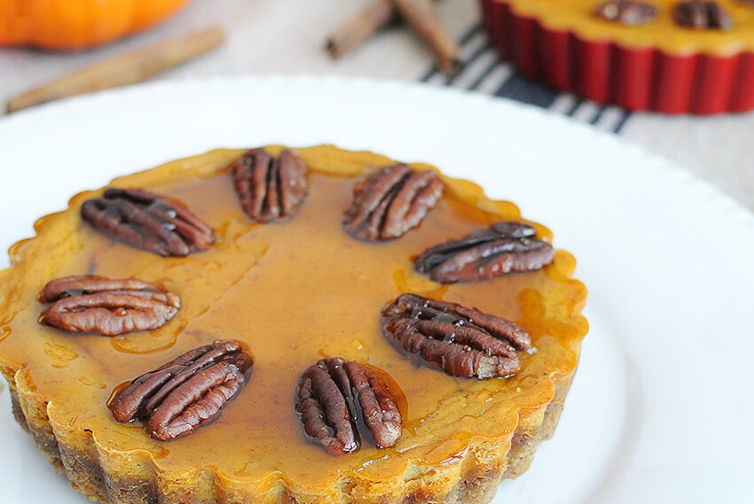 My PCOS Kitchen - Tasteaholics - 40+ Low Carb Thanksgiving Recipes - Pumpkin Pecan Tarts