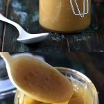 Sugar-free Low Carb Caramel Sauce - My PCOS Kitchen - A delicious sugar-free low carb caramel sauce that does not crystallize or separate when cooled! Can be reheated easily and tastes great on cheesecake or donuts #caramel #lowcarb #keto #sugarfree #dessert #lchf #ketogenic